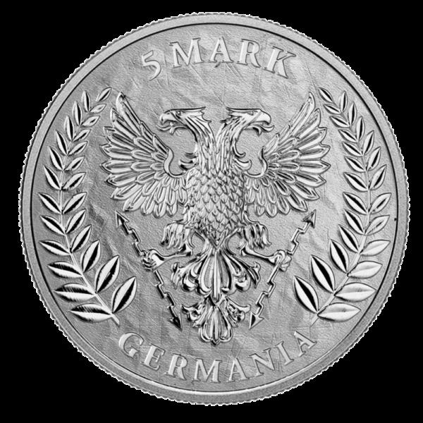 1 oz Germania 5 Mark Silver Coin (2019)(Back)