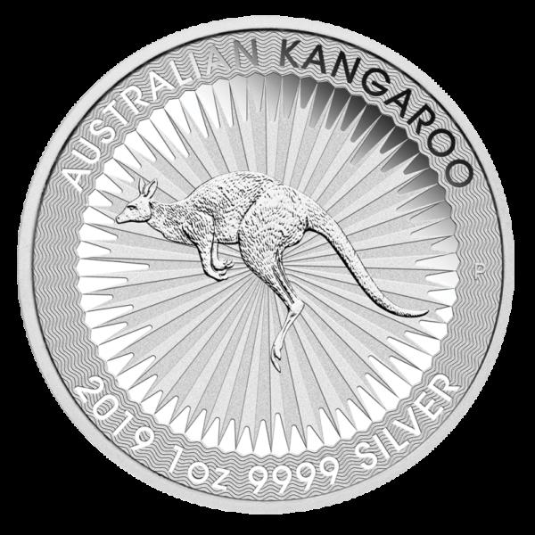 1 oz Kangaroo Silver Coin (2019)(Front)