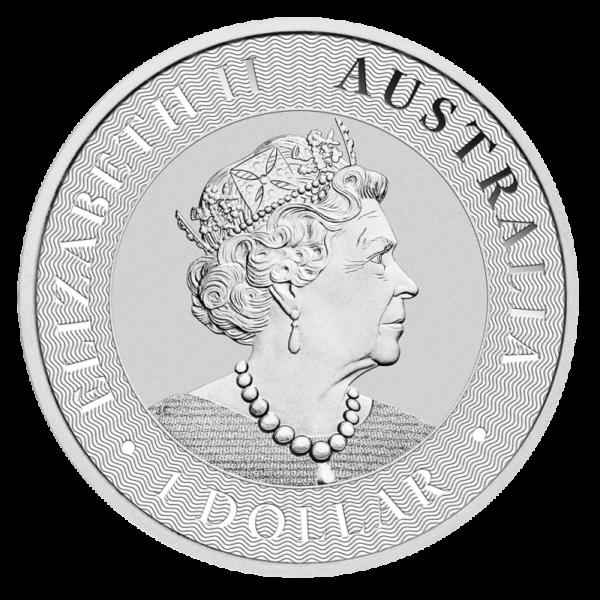 1 oz Kangaroo Silver Coin (2019)(Back)