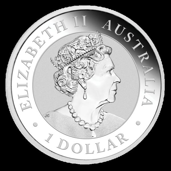 1 oz Kookaburra Silver Coin (2019)(Back)