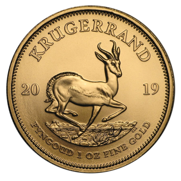 1 oz Krugerrand Gold Coin (2019)(Front)