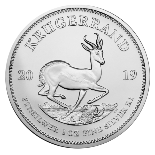 1 oz Krugerrand Silver Coin (2019)(Front)