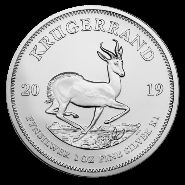 1 oz Krugerrand Silver Coin (2019)(Front)