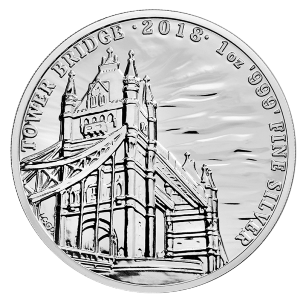 1 oz Landmarks of Britain - Tower Bridge | Silver | 2018(Front)