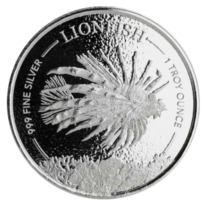 1 oz Lionfish Silver Coin (2019)(Front)