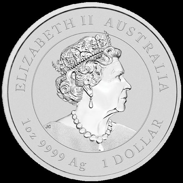 1 oz Lunar III Mouse Silver Coin (2020)(Back)