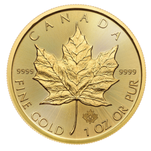 1 oz Maple Leaf Gold Coin (2019)(Front)