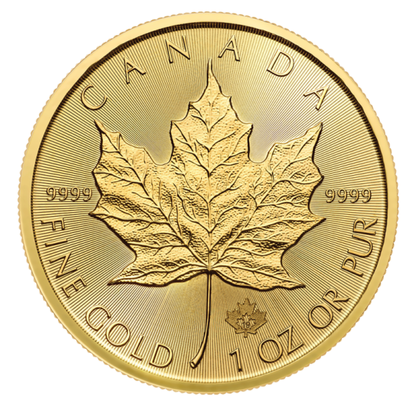 1 oz Maple Leaf Gold Coin (2020)(Front)