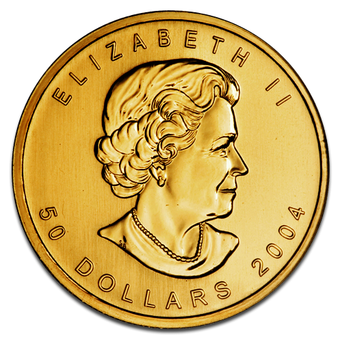 Maple Leaf, 1oz Gold, mixed years(Back)