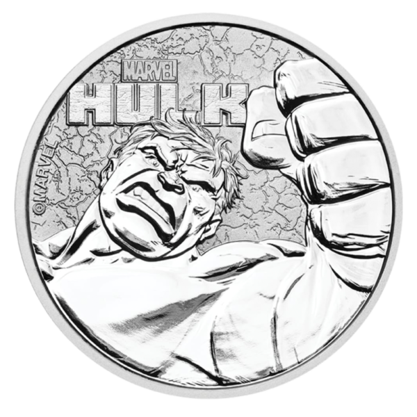 1 oz Marvel's Hulk Silver Coin (2019)(Front)