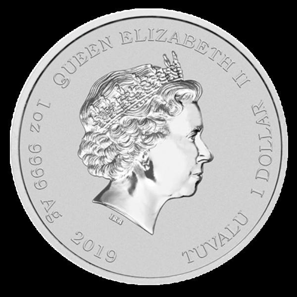 1 oz Marvel's Hulk Silver Coin (2019)(Back)