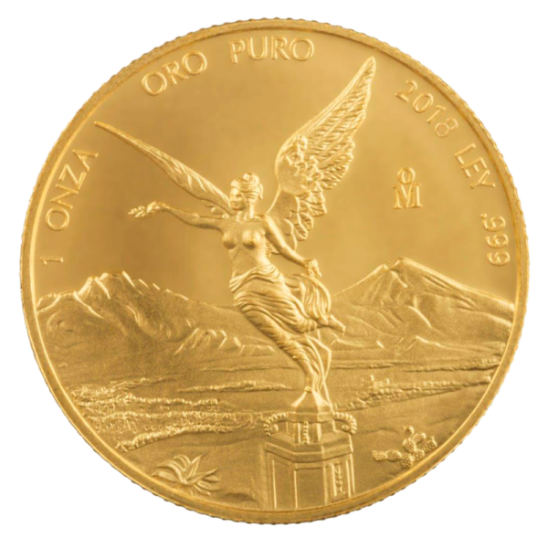 1 oz Mexican Libertad Gold Coin (2018)(Front)