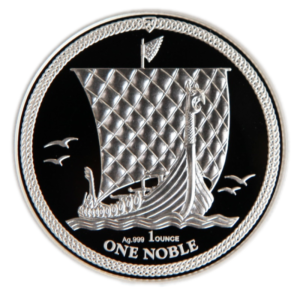 1 oz Noble Isle of Man PU Silver Coin (2018)(Front)