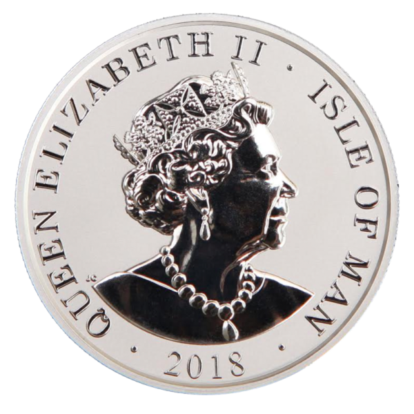1 oz Noble Isle of Man PU Silver Coin (2018)(Back)