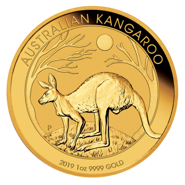 1 oz Nugget Kangaroo Gold Coin (2019)(Front)