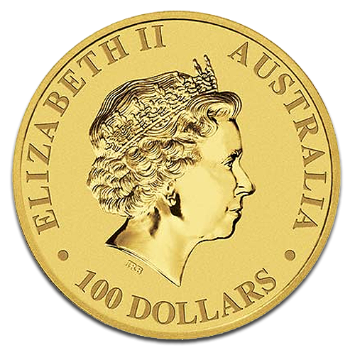 1 oz Nugget Kangaroo Gold Coin (mixed years)(Back)
