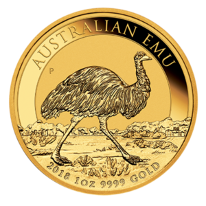 1 oz Perth Mint Emu Gold Coin (2018)(Front)