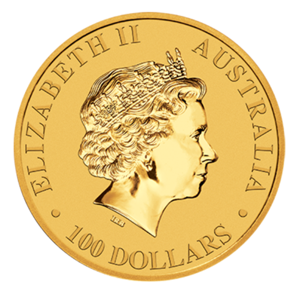 1 oz Perth Mint Emu Gold Coin (2018)(Back)
