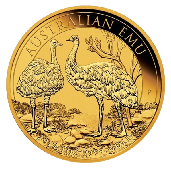 1 oz Perth Mint Emu Gold Coin (2019)(Front)