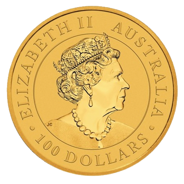 1 oz Perth Mint Emu Gold Coin (2019)(Back)