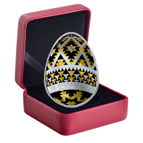 1 oz Pysanka Egg Silver Coin Proof (2019)(Front)