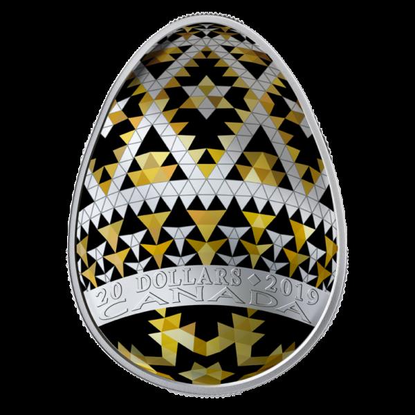 1 oz Pysanka Egg Silver Coin Proof (2019)(Back)