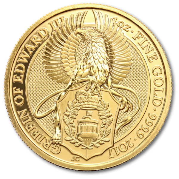 1 oz Queen's Beasts Griffin | Gold | 2017(Front)