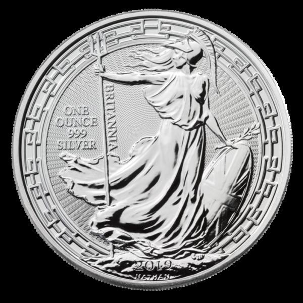 1 oz Britannia Oriental Border silver Coin (2019)(Front)