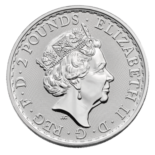 1 oz Britannia Oriental Border silver Coin (2019)(Back)