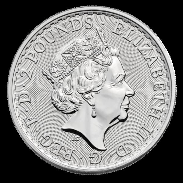 1 oz Britannia Oriental Border silver Coin (2019)(Back)