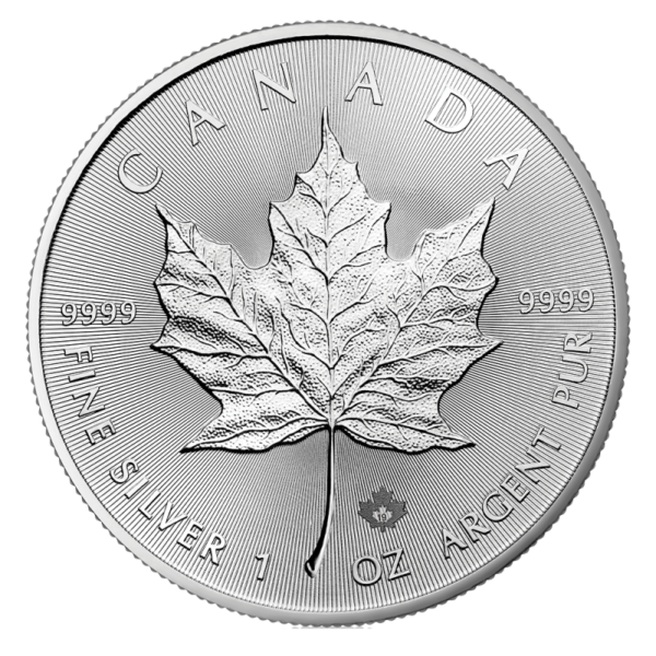 1 oz Silver Maple Leaf Coin (2019)(Front)
