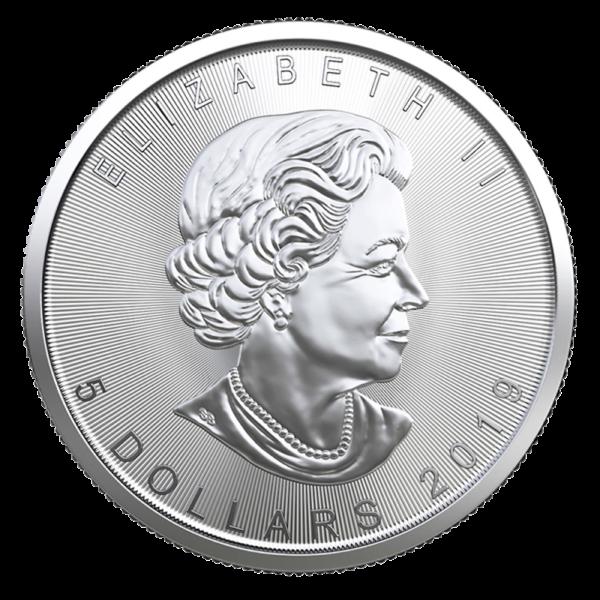 1 oz Silver Maple Leaf Coin (2019)(Back)