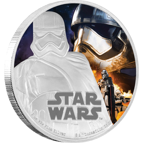 1 oz STAR WARS The Force Awakens - Captain Phasma™ | Silver | 2016(Front)