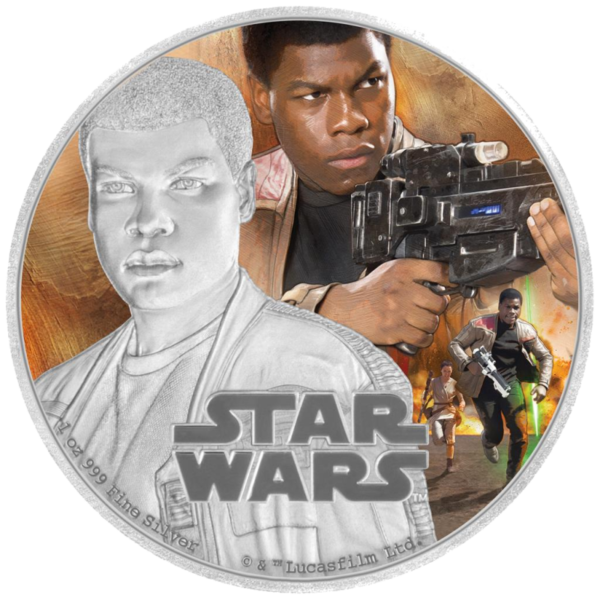 1 oz STAR WARS The Force Awakens - Finn™ | Silver | 2016(Front)