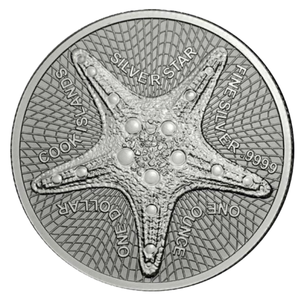 1 oz Starfish Silver Coin (2019)(Front)