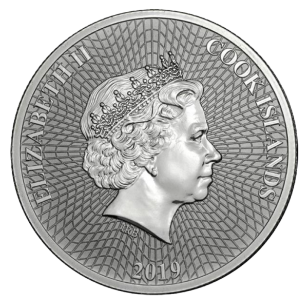 1 oz Starfish Silver Coin (2019)(Back)