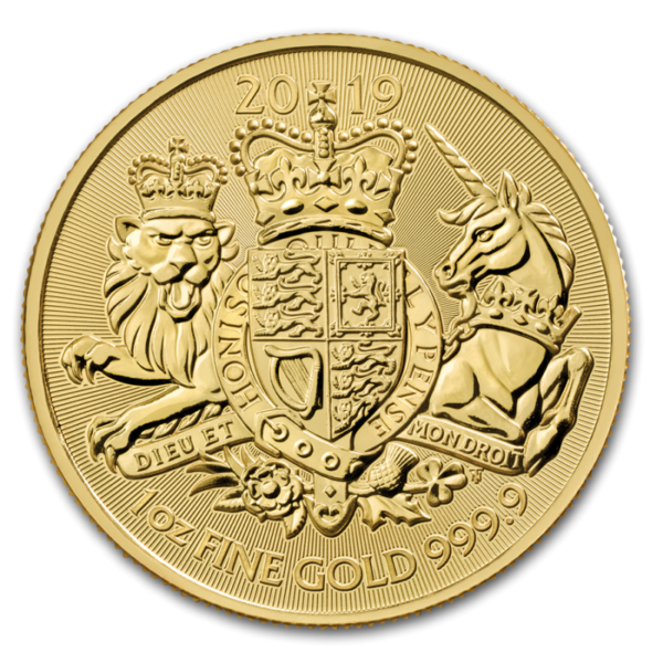 1 oz The Royal Arms Gold Coin (2019)(Front)