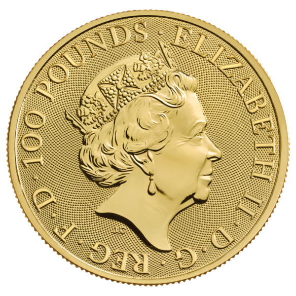 1 oz The Royal Arms Gold Coin (2019)(Back)