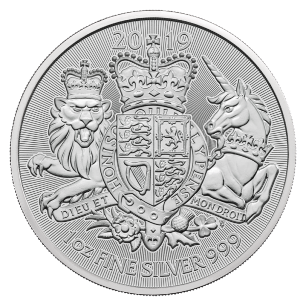 1 oz The Royal Arms Silver Coin (2019)(Front)