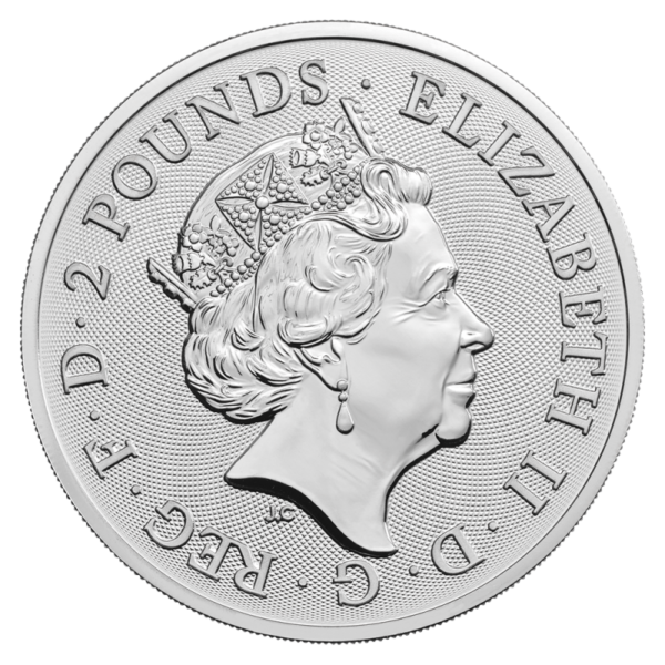 1 oz The Royal Arms Silver Coin (2019)(Back)