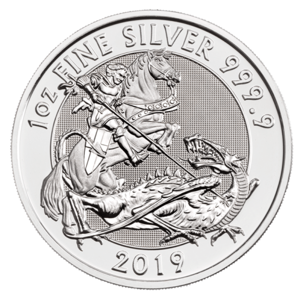 1 oz The Valiant Silver Coin (2019)(Front)