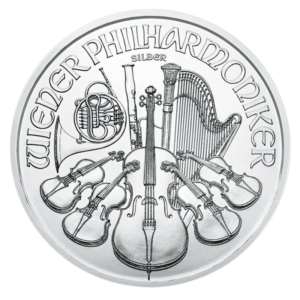 1 oz Vienna Philharmonic Silver Coin (2019)(Front)