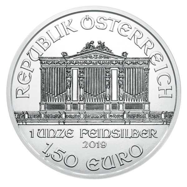 1 oz Vienna Philharmonic Silver Coin (2019)(Back)