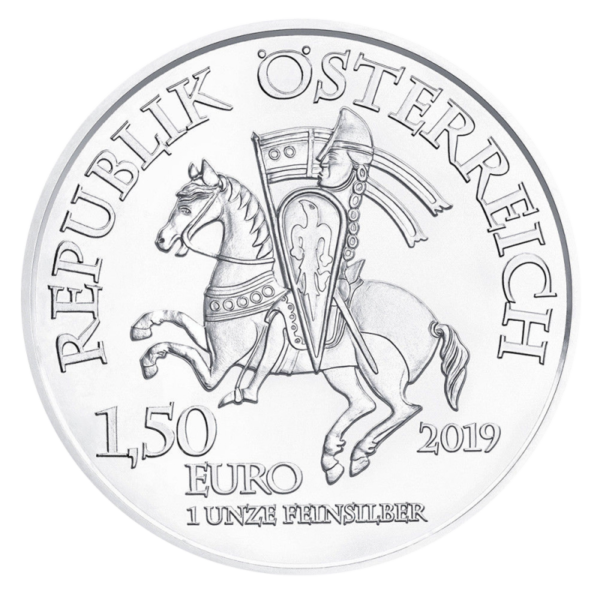 1 oz Wiener Neustadt 825th Anniversary Silver Coin (2019)(Back)