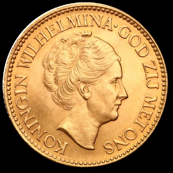 10 Dutch Guilders Wilhelmina | Gold | 1892-1933(Front)