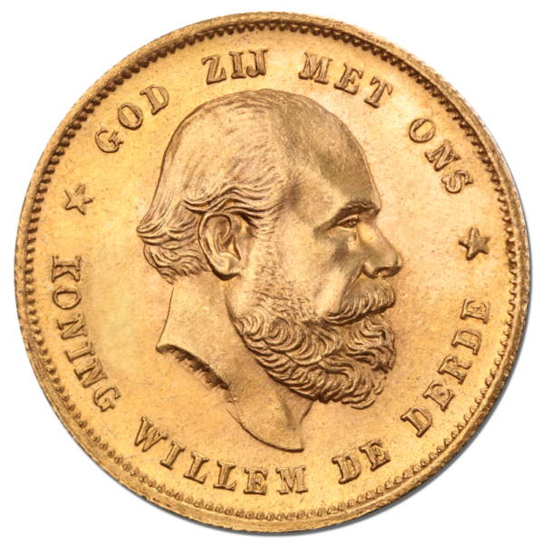 10 Dutch Guilders Willem III | Gold | 1875-1889(Front)