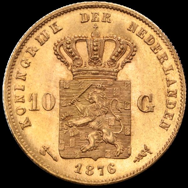 10 Dutch Guilders Willem III | Gold | 1875-1889(Back)