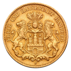 10 Mark | Free Hanseatic City of Hamburg | Gold | 1873-1913(Front)