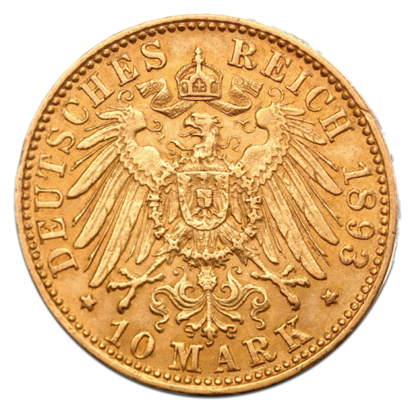 10 Mark | Free Hanseatic City of Hamburg | Gold | 1873-1913(Back)