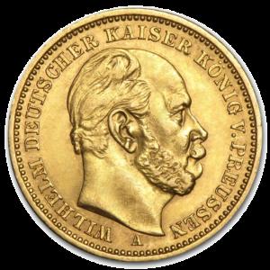 10 Mark Gold | Emperor Wilhelm I | Prussia | 1874-1888(Front)